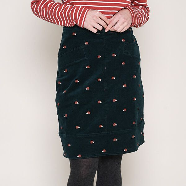 Brakeburn Embroidered Cord Skirt