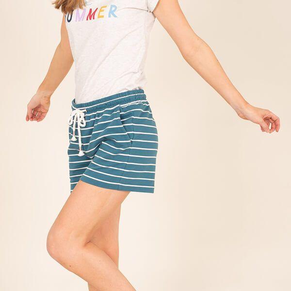 Brakeburn Stripe Sweat Shorts