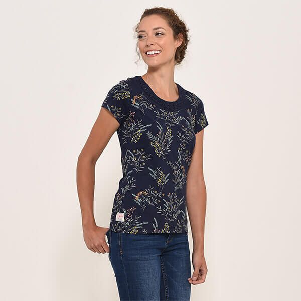 Brakeburn Navy Florence T-Shirt