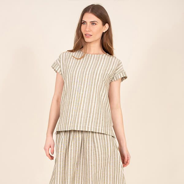 Brakeburn Green Boxy Co-ord Tee