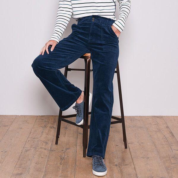 Brakeburn Wide Leg Corduroy Trousers