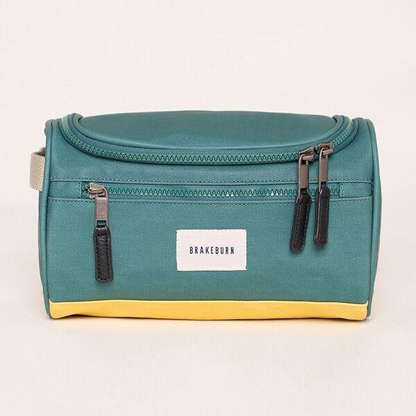 Brakeburn Green and Yellow Washbag