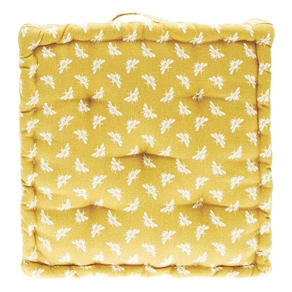 Walton & Co Ochre Bee Mattress Cushion