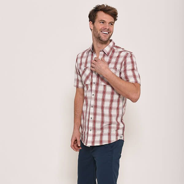 Brakeburn Short Sleeve Shirt Red Check