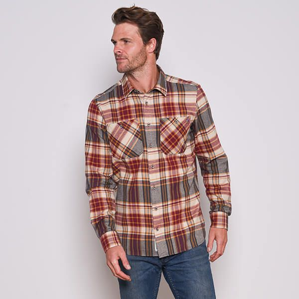 Brakeburn Red Checked Flannel Shirt