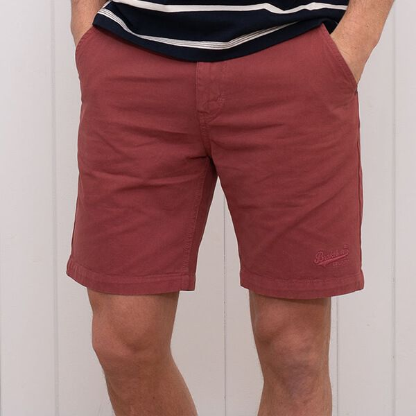 Brakeburn Chino Shorts Washed Red