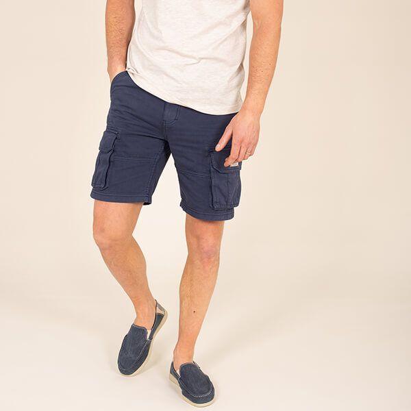 Brakeburn Washed Navy Cargo Shorts