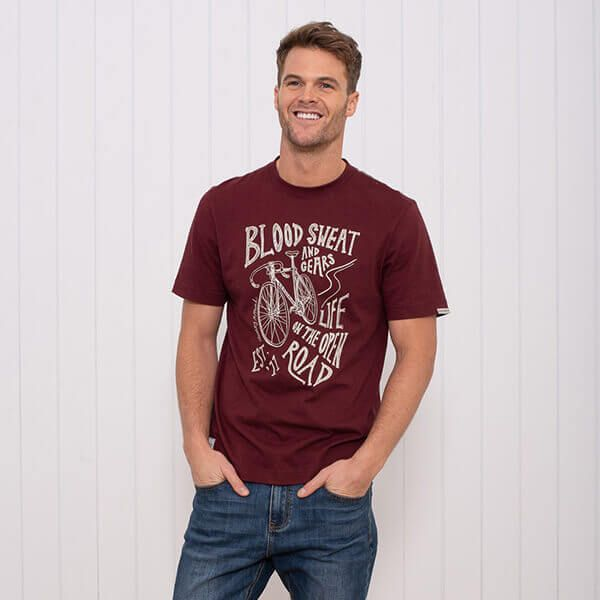 Brakeburn Burgundy Bike T-Shirt