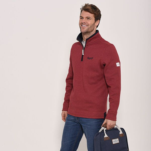 Brakeburn Red 1/4 Zip Sweat