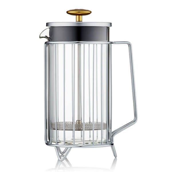 Barista & Co Beautifully Crafted Corral Coffee Press Steel 8 Cup / 3 Mug