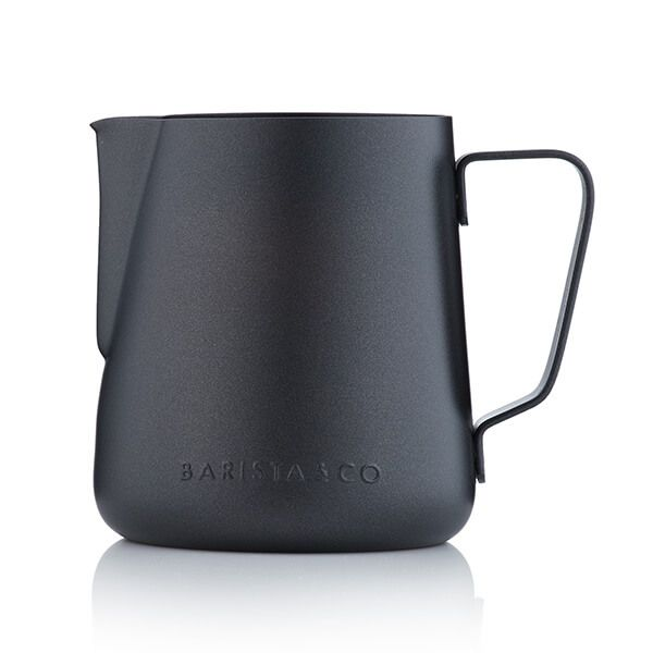 Barista & Co Beautifully Crafted Core Stainless Steel Milk Jug Black Non-Stick 420ml