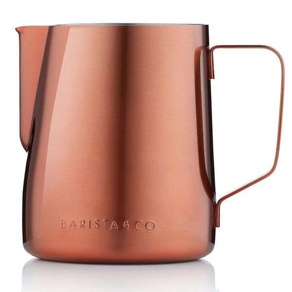 Barista & Co Beautifully Crafted Core Stainless Steel Milk Jug Copper 600ml