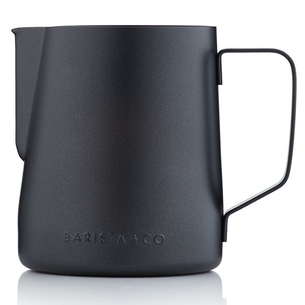 Barista & Co Beautifully Crafted Core Stainless Steel Milk Jug Black Non-Stick 600ml