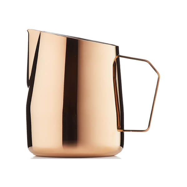 Barista & Co Beautifully Crafted Dial In Milk Pitcher Rose Brass 420ml