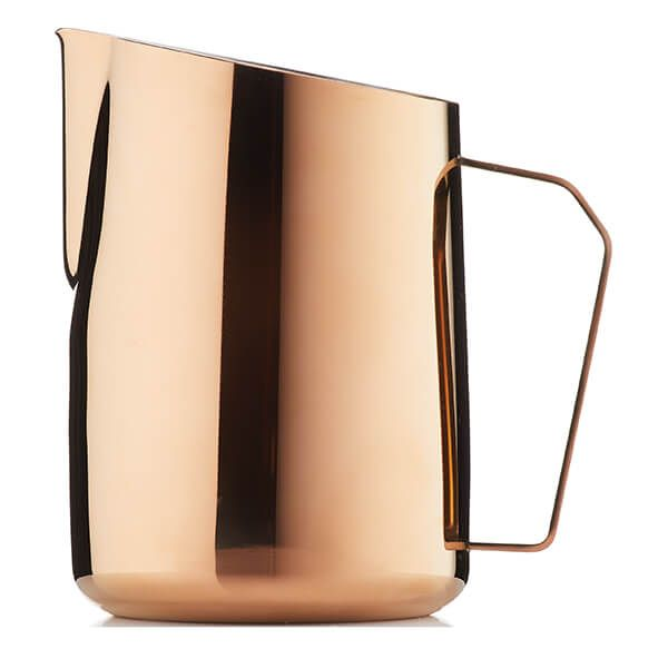 Barista & Co Beautifully Crafted Dial In Milk Pitcher Rose Brass 600ml