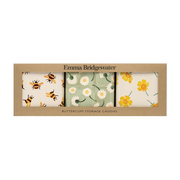 Emma Bridgewater Buttercup Set Of 3 Square Caddies