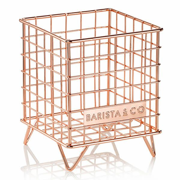 Barista & Co Beautifully Crafted Corral Pod Coffee Capsule Storage Copper
