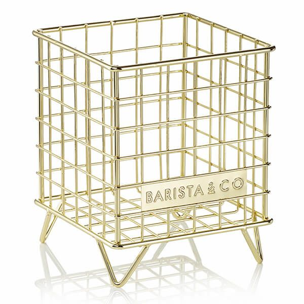 Barista & Co Beautifully Crafted Corral Pod Coffee Capsule Storage Gold