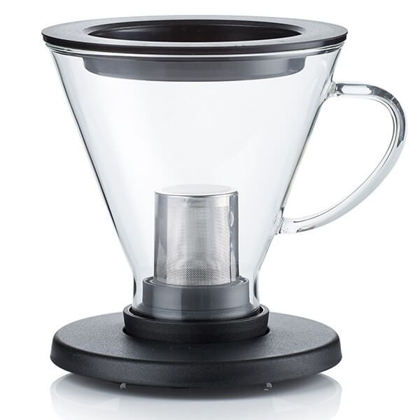 Barista & Co Made Simple BrewThru Coffee and Tea Maker Black
