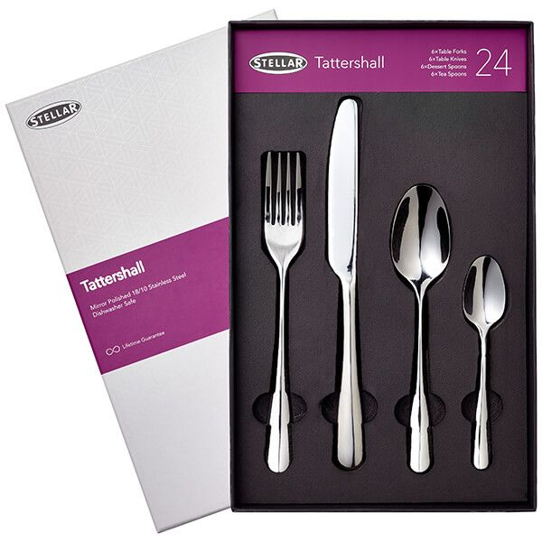 Stellar Tattershall Stainless Steel 24 Piece Cutlery Gift Box Set