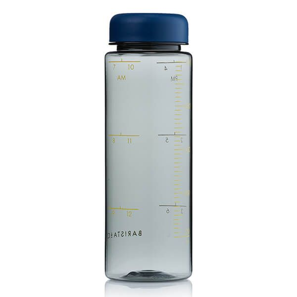 Barista & Co Made Simple Timer Measure Water Bottle Blue