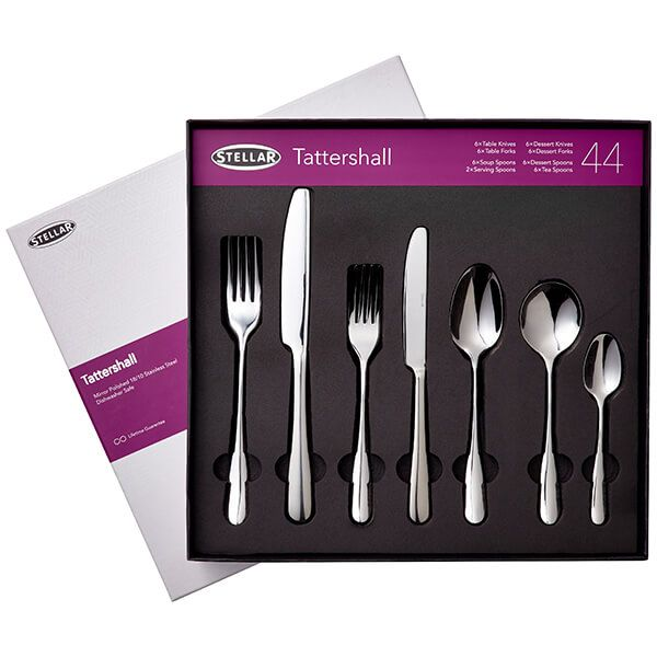 Stellar Tattershall Stainless Steel 44 Piece Cutlery Gift Box Set
