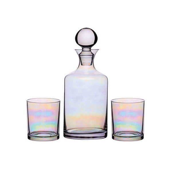 BarCraft Lustre Glass Decanter Set