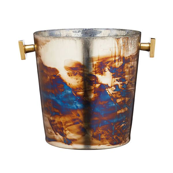 BarCraft Zinc Fired Glass Ice Bucket
