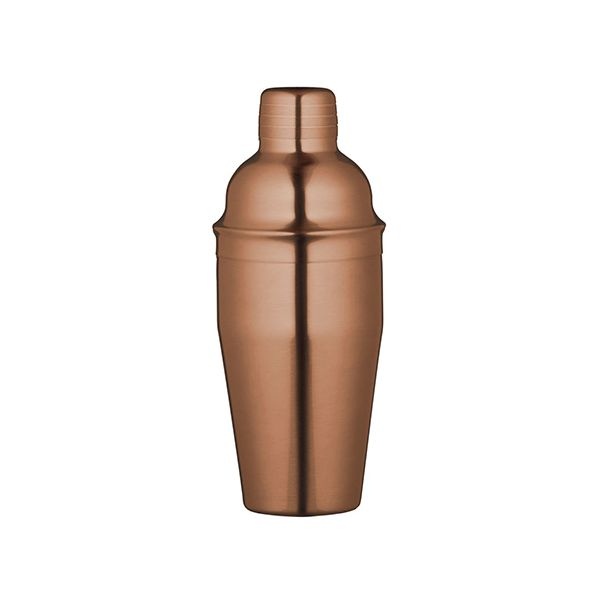BarCraft Art Copper Finish 500ml Cocktail Shaker