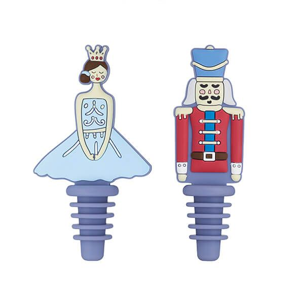 KitchenCraft The Nutcracker Collection Set of 2 Bottle Stoppers