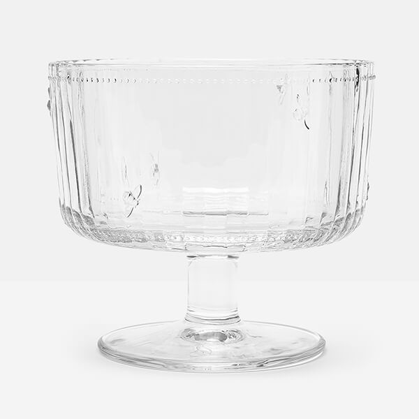Joules Bees Glass Trifle Bowl