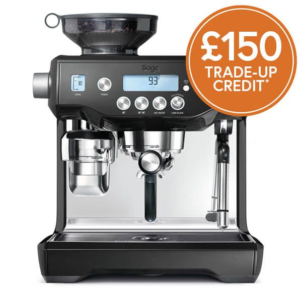 Sage The Oracle Black Sesame Coffee Machine with £150 Trade-Up Credit