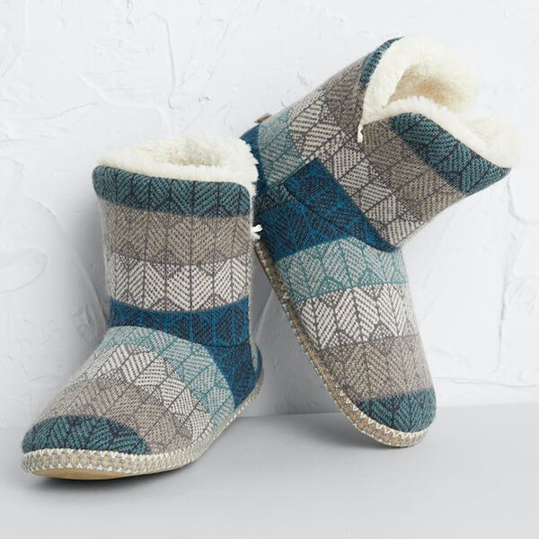 Seasalt Snooze Slipper Booties Lost Maze Nettle