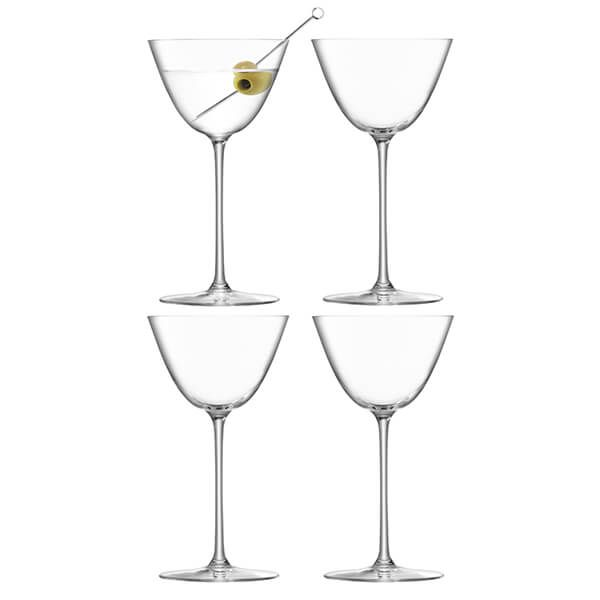 LSA Borough Martini Glass 195ml Set Of 4