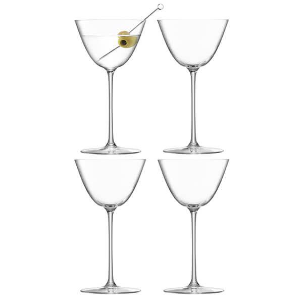 LSA Borough Martini Glass 195ml Set Of 4
