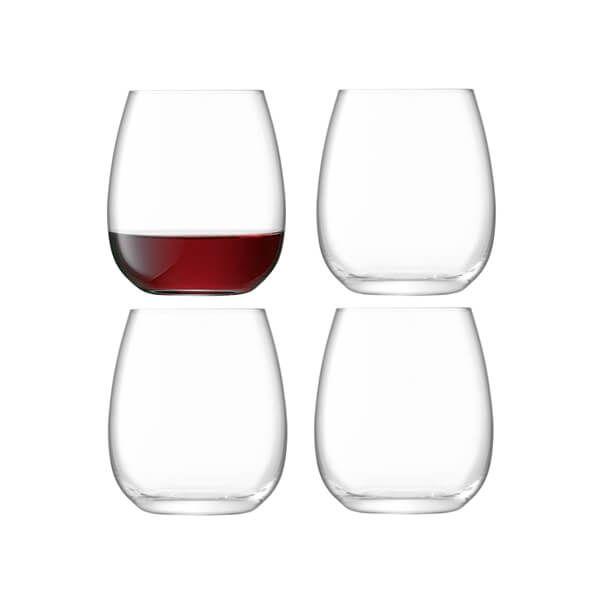 LSA Borough Stemless Glass 455ml Set Of 4