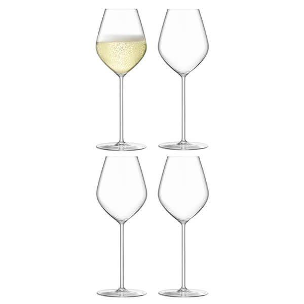 LSA Borough Champagne Tulip Glass 285ml Set Of 4