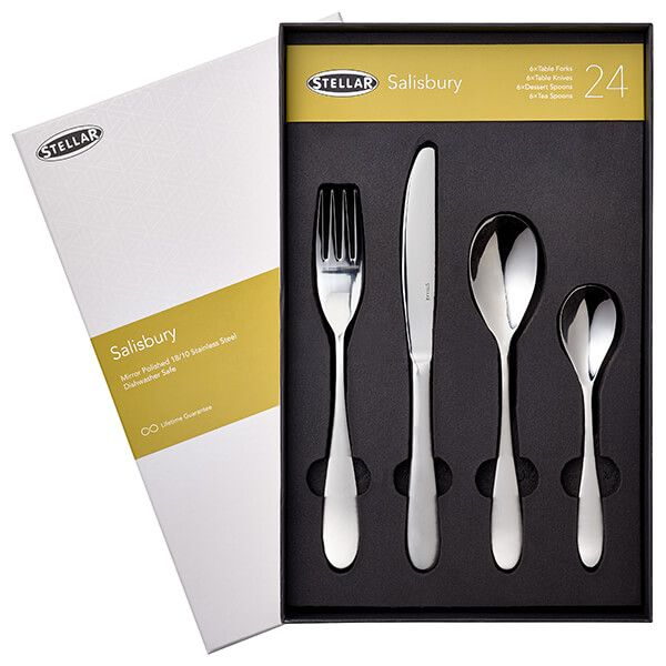 Stellar Salisbury 24 Piece Cutlery Gift Box Set