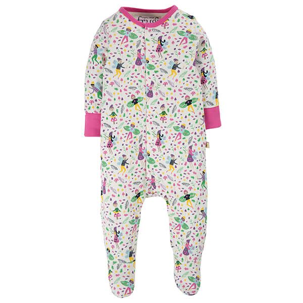 Frugi Organic Multi Fairy Friends Lovely Babygrow