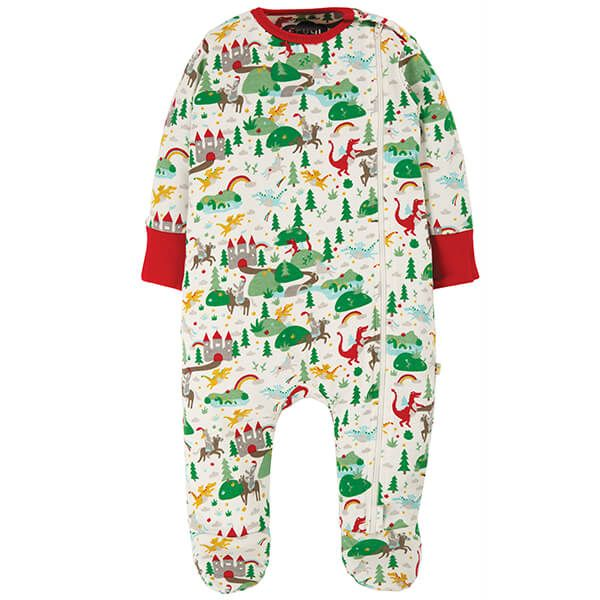 Frugi Organic Multi Mini Fairytale Zipped Babygrow