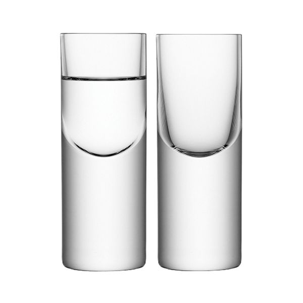 LSA Boris Vodka Glass 50ml Set Of Two
