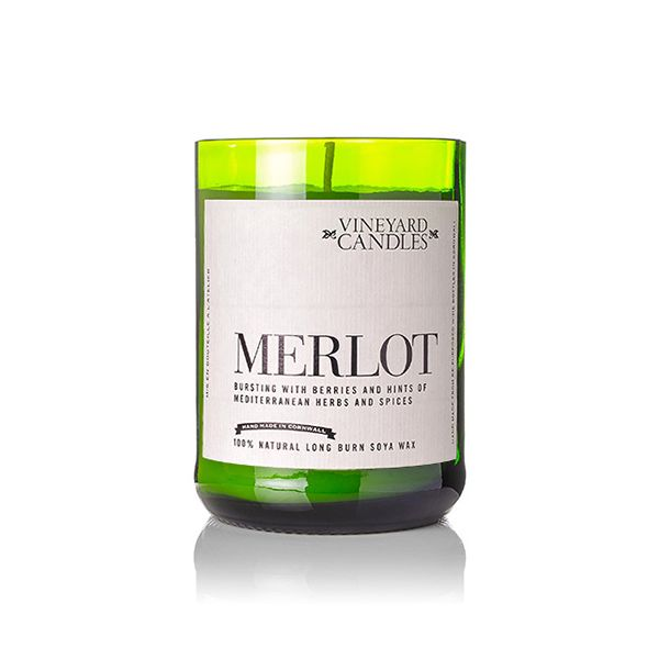 Vineyard Wine Bottle Merlot Candle