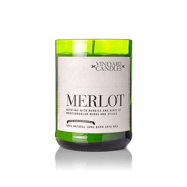 Vineyard Wine Bottle Merlot Candle