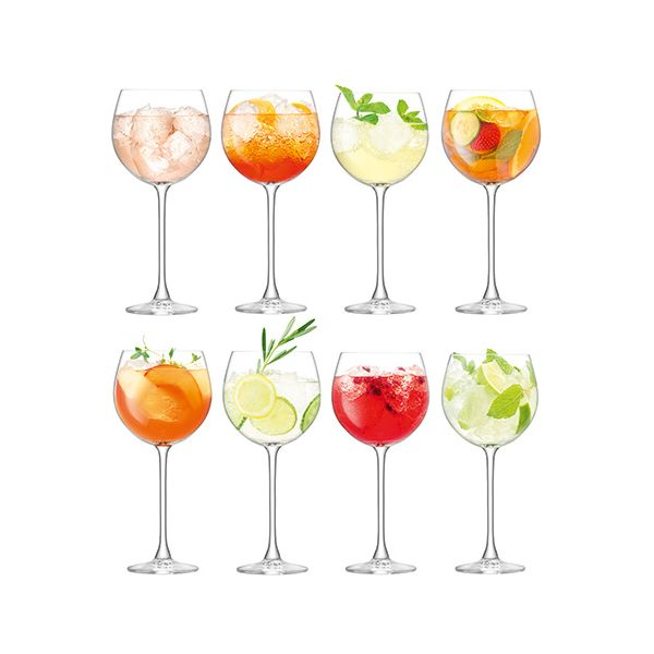 LSA Balloon Goblet 525ml Clear Set of 8