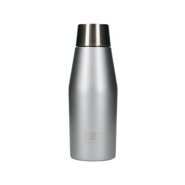Built Apex 330ml Perfect Seal Water Bottle Silver
