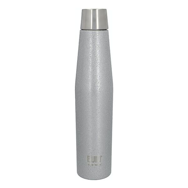 Built Apex 540ml Perfect Seal Water Bottle Silver Glitter