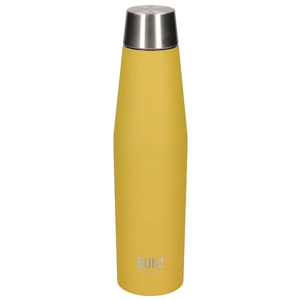 Built Stylist Perfect Seal 540ml Yellow Hydration Bottle
