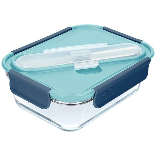 Built Retro Glass 900ml Lunch Box with Cutlery