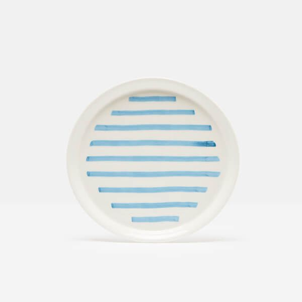 Joules Hand Painted Stripe Side Plate