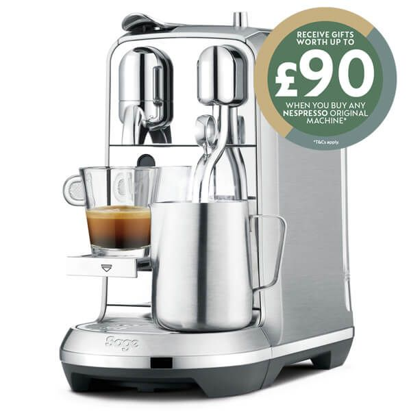 Sage Stainless Steel Creatista Plus Nespresso Coffee Machine with FREE Gifts